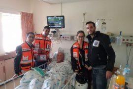 כנגד כל הסיכויים מתנדבי איחוד הצלה הצילו תושב ללא דופק ונשימה ברחוב הגרא